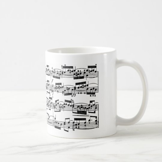 Sheet Music by Bach Coffee Mug