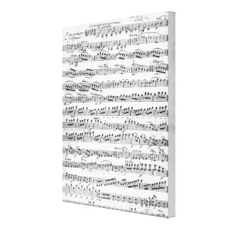 Sheet Music for the Overture to 'Egmont' Canvas Print
