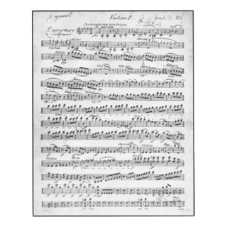 Sheet Music for the Overture to 'Egmont'