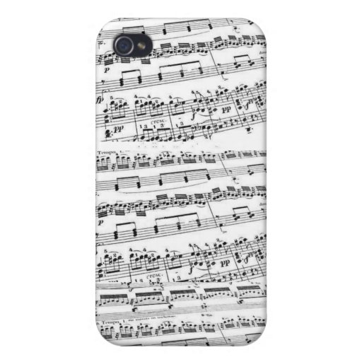 Sheet Music/Glee Club iPhone 4 Cases