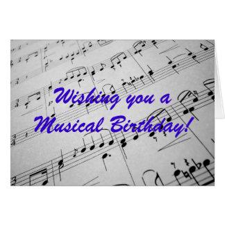 Sheet Music Greeting Card