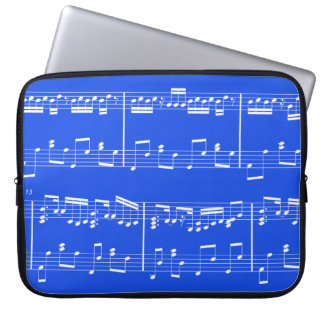 Sheet Music Laptop Case Royal Blue