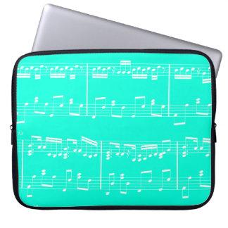 Sheet Music Laptop Case Turquoise Laptop Sleeve
