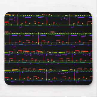 Sheet Music Mouse Pad Rainbow