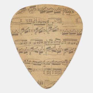 Sheet Music Notes Guitar Pick