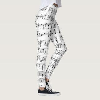 Sheet Music Notes Leggings