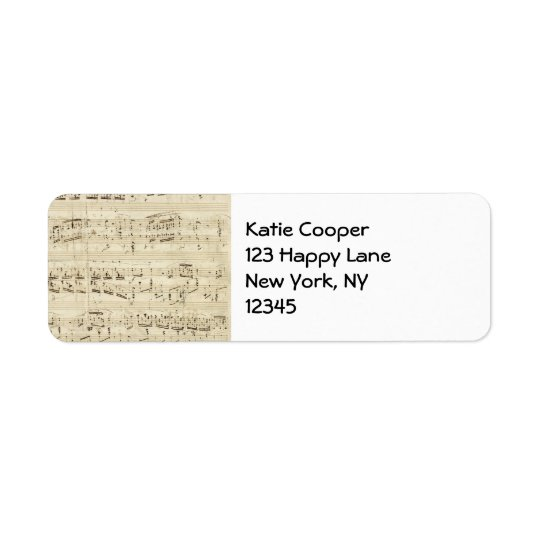 Sheet Music on Parchment Handwritten in Ink