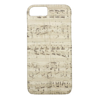 Sheet Music on Parchment Handwritten in Ink iPhone 7 Case