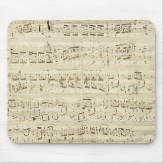 Sheet Music on Parchment Handwritten in Ink Mouse Pad