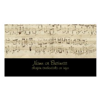 Sheet Music on Parchment Handwritten in Ink Pack Of Standard Business Cards