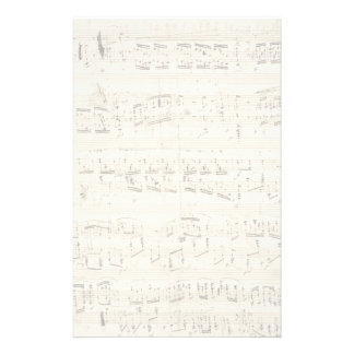 Sheet Music on Parchment Handwritten in Ink Personalized Stationery