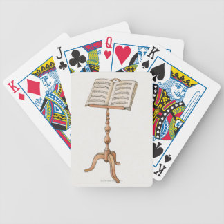 Sheet Music on Stand Bicycle Playing Cards