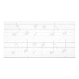Sheet Music Personalized Photo Card