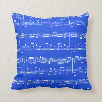 Sheet Music Pillow  Royal Blue