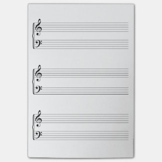 Sheet Music Post-it Notes