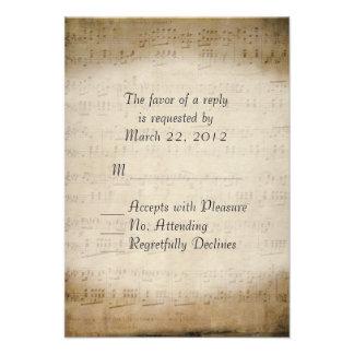 Sheet Music RSVP Custom Invitation