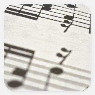 Sheet music score square sticker