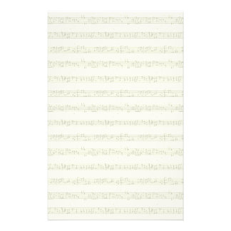 Sheet Music Stationary Personalised Stationery