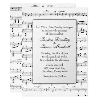 Sheet Music Wedding Theme Invitation