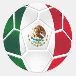 Sheet of 20 Mexican modern soccer ball stickers