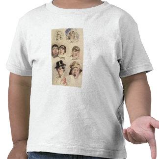 Sheet of Studies of Seven Heads Tee Shirt