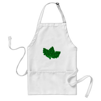 Sheets of leaves apron