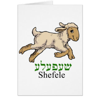 """Shefeleh""-little lamb Card"