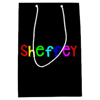 Sheffey Bold Rainbow Fonts 9711 Medium Gift Bag