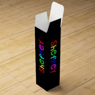 Sheffey Bold Rainbow Fonts 9711 Wine Box