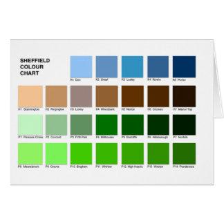 Sheffield Colour Chart Greeting Card