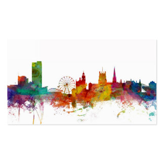 Sheffield England Skyline Business Cards