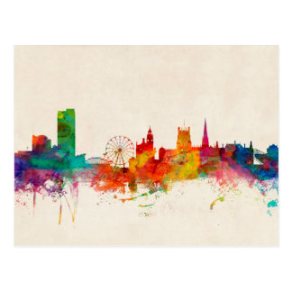 Sheffield England Skyline Postcard