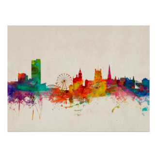 Sheffield England Skyline Poster