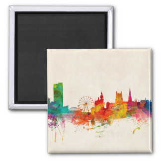 Sheffield England Skyline Square Magnet