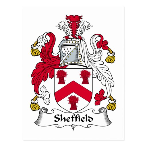 Sheffield Family Crest Post Cards