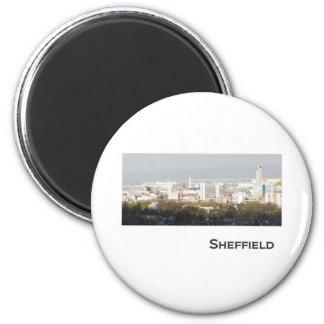 Sheffield Landscape picture 6 Cm Round Magnet