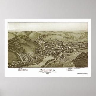 Sheffield, PA Panoramic Map - 1895 Poster