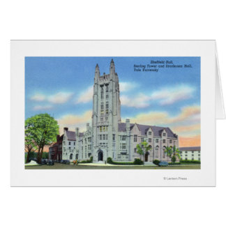 Sheffield, Strathcona Halls and Sterling Tower Greeting Card