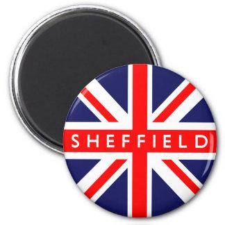 Sheffield UK Flag 6 Cm Round Magnet