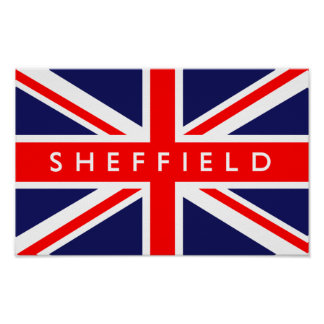 Sheffield UK Flag Poster