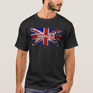 Sheffield Vintage Peeling Paint Union Jack Flag T-Shirt