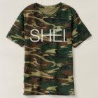 SHEI logo (camo) T-Shirt