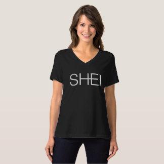 SHEI V-Neck Logo Tee
