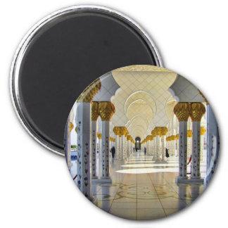 Sheikh Zayed Grand Mosque Corridor 6 Cm Round Magnet