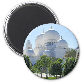 Sheikh Zayed Grand Mosque domes 1 6 Cm Round Magnet