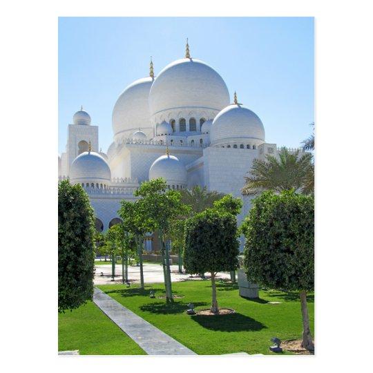 Sheikh Zayed Grand Mosque domes 1 Postcard