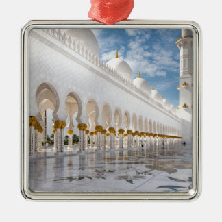 Sheikh Zayed mosque Silver-Colored Square Decoration