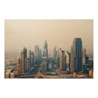 Sheikh Zayed Road Wood Wall Art
