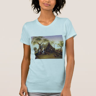 Sheiks Drinking Coffee In Front of A Tent by Josep T-Shirt