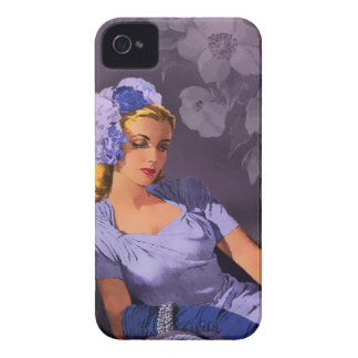 Sheila - 1940s Evening Wear in Lavender and Mauve iPhone 4 Cases